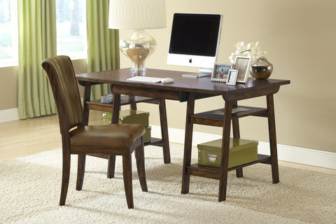 Parkglen Desk And Chair Set in Cherry 4379PD - HillsdaleSuperStore