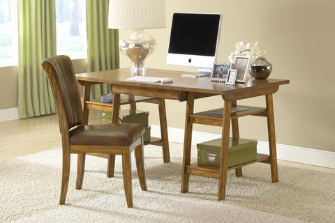 Parkglen Desk And Chair Set in Medium Oak 4337PD - HillsdaleSuperStore