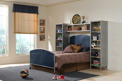 Hillsdale 1178471BFWS Universal Bed Set - Full - w/Rails and Wall Unit - HillsdaleSuperStore