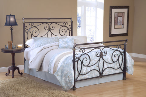 Hillsdale 1643BKR Brady Bed Set King with 6 Leg Bed Frame Antique Bronze - HillsdaleSuperStore