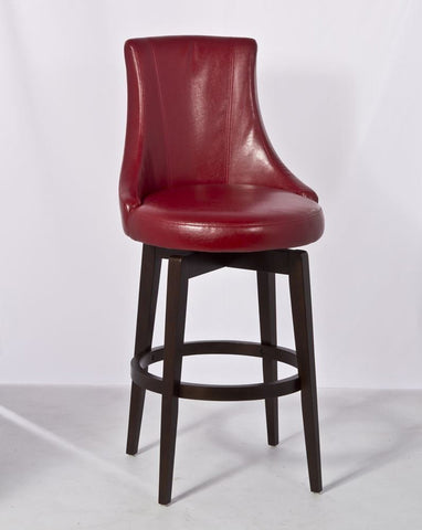 Hillsdale 5279-820 Santa Anita Swivel Counter Stool w/Red Vinyl - HillsdaleSuperStore