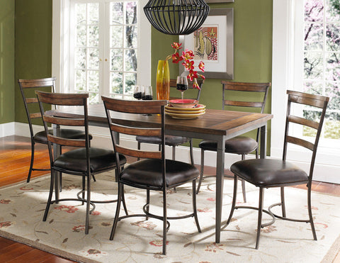 Hillsdale 4671DTBRC57 Cameron 7-Piece Rectangle Wood Dining Set w/Ladder Back Chairs - HillsdaleSuperStore