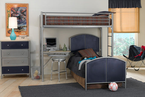 Hillsdale 1178DBTC Universal Study Loft - Twin, Twin Bed, Rails, and Chest - HillsdaleSuperStore