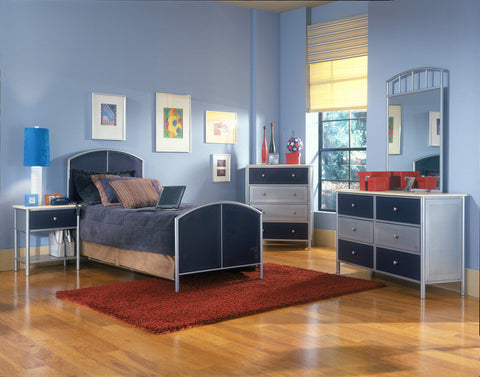 Hillsdale 1177BFRSET4 Universal Bed - Full, Rails, Nightstand, Dresser, and Mirror - HillsdaleSuperStore