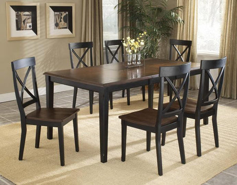 Hillsdale Englewood 5 Piece Rectangle Leg Extension Table Set 4884DTBC2 - HillsdaleSuperStore