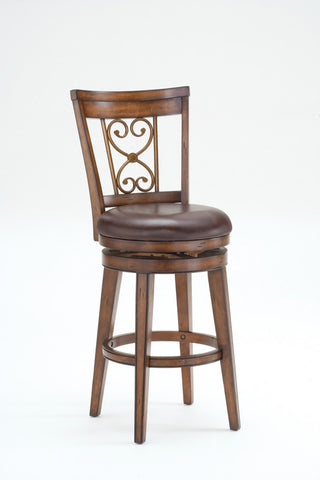 "Hillsdale Furniture 30"" 4685-830 Villagio Swivel Bar Stool - Scroll Back - HillsdaleSuperStore"