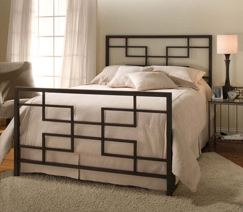 Hillsdale 1474BQR Terrace Bed Set with Rails Queen - HillsdaleSuperStore