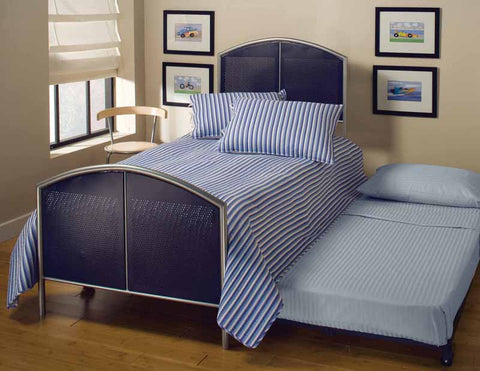 Hillsdale 1177BTWHTR Universal Bed Set - Twin - w/Rails and Trundle - HillsdaleSuperStore
