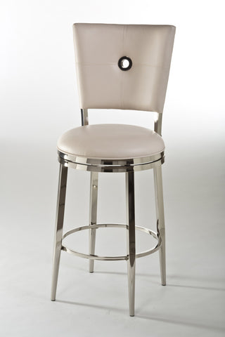 "Hillsdale Furniture 5313-830 Montbrook 30"" Swivel Bar Stool w/Ivory PU - HillsdaleSuperStore"
