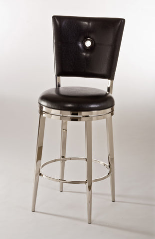 "Hillsdale Furniture 5313-831 Montbrook 30"" Swivel Bar Stool w/Black PU - HillsdaleSuperStore"