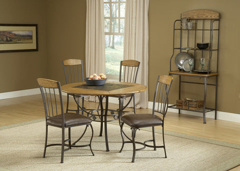 Hillsdale Lakeview 5 Piece Dining Room Set With Wood Accent Chairs 4264DTBRDCW - HillsdaleSuperStore