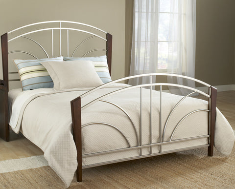 Hillsdale 1591BKR Furniture Sorrento King Bed Set Post Kit 6 Leg Bed Frame - HillsdaleSuperStore