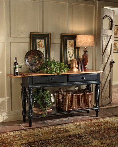 Hillsdale Wilshire Sideboard Table Rubbed Black 4509SB - HillsdaleSuperStore