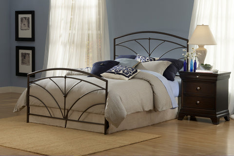Hillsdale 1568BKR Thompson Duo Panel King Bed with 6 Leg Bed Frame - HillsdaleSuperStore