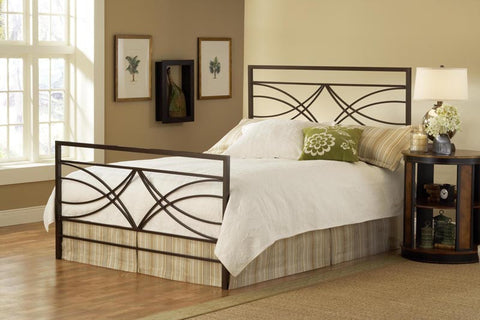 Hillsdale 1598BKR Furniture Dutton Duo Panel Bed King 6 Leg Bed Frame - HillsdaleSuperStore