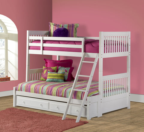 Hillsdale 1528BBFT Lauren Bunk Bed - Twin/Full - w/Storage Drawer - HillsdaleSuperStore