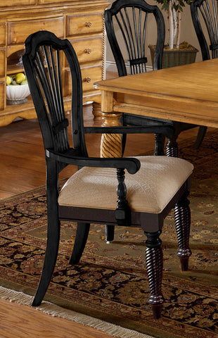 Hillsdale Wilshire Rubbed Black Arm Chair 4509-805 - HillsdaleSuperStore