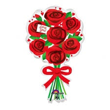 P30 LOVE YOU RED ROSES SUPERSHAPE BALLOON 30IN