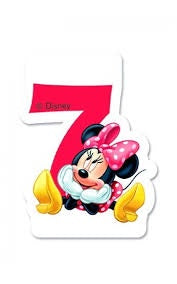 Minnie Numeral Candle No. 7