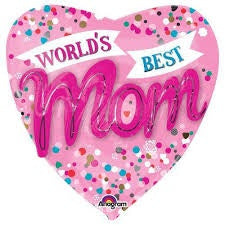P75 World`S Best Mom Multi Balloon 36In