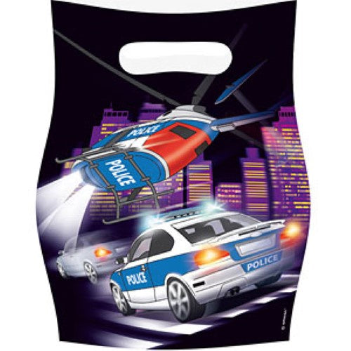 Police Party Bags 8Pcs