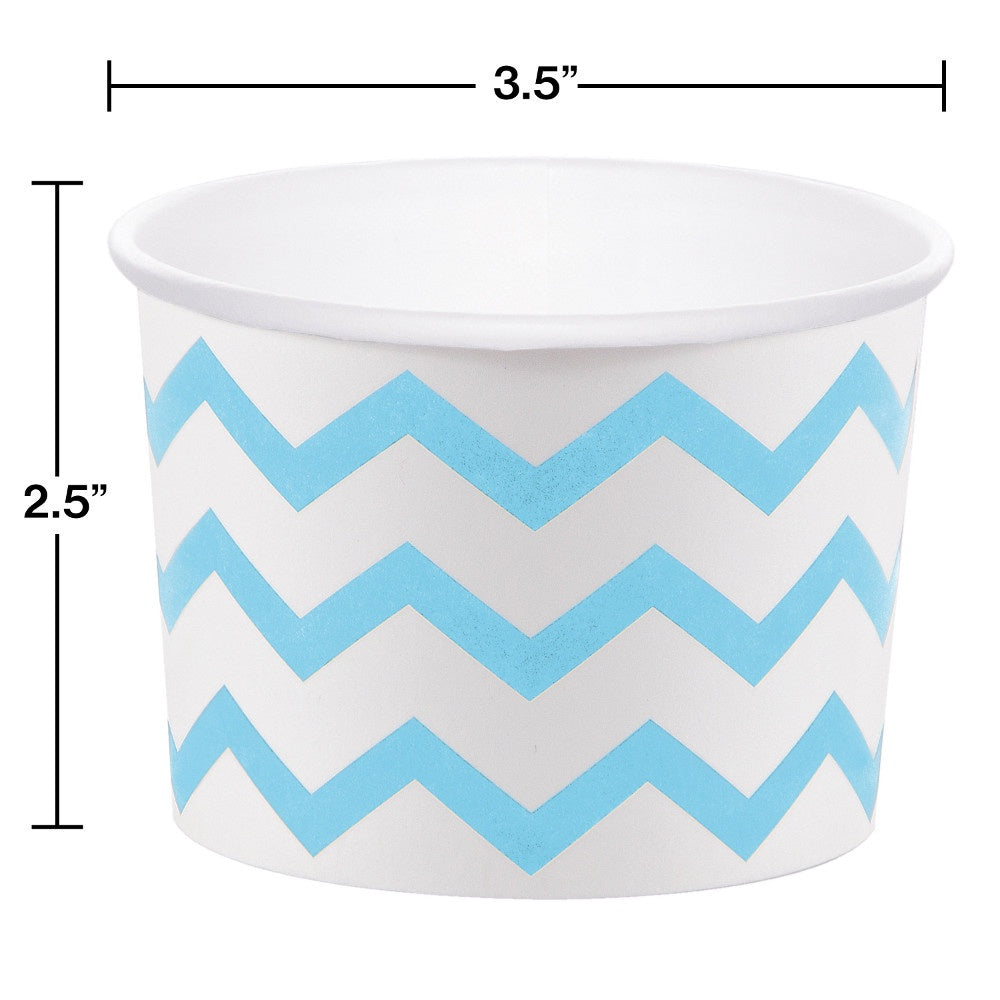 CUP TREAT 12/6 CHEVRON BLUE/WH [051336]