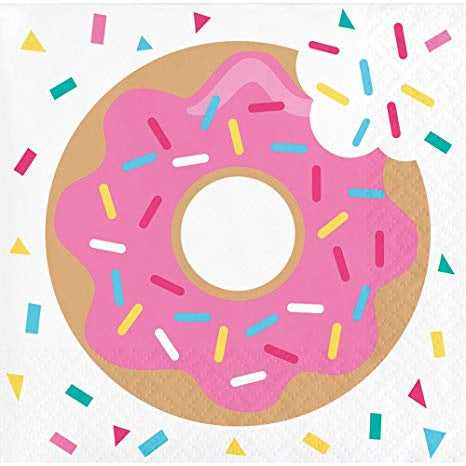 Beverage Napkin Bn 12/16Ct 2P Donut Time