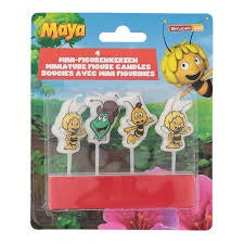 Bee Maya Mini Figure Candles 4Pcs