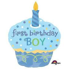 Sweet Little Cupcake Boy Foil Balloon 2