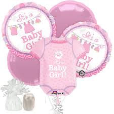 Shower With Love Girl Balloon Bouquet,