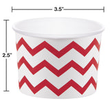 CUP TREAT 12/6 CHEVRON RED/WH [051334]