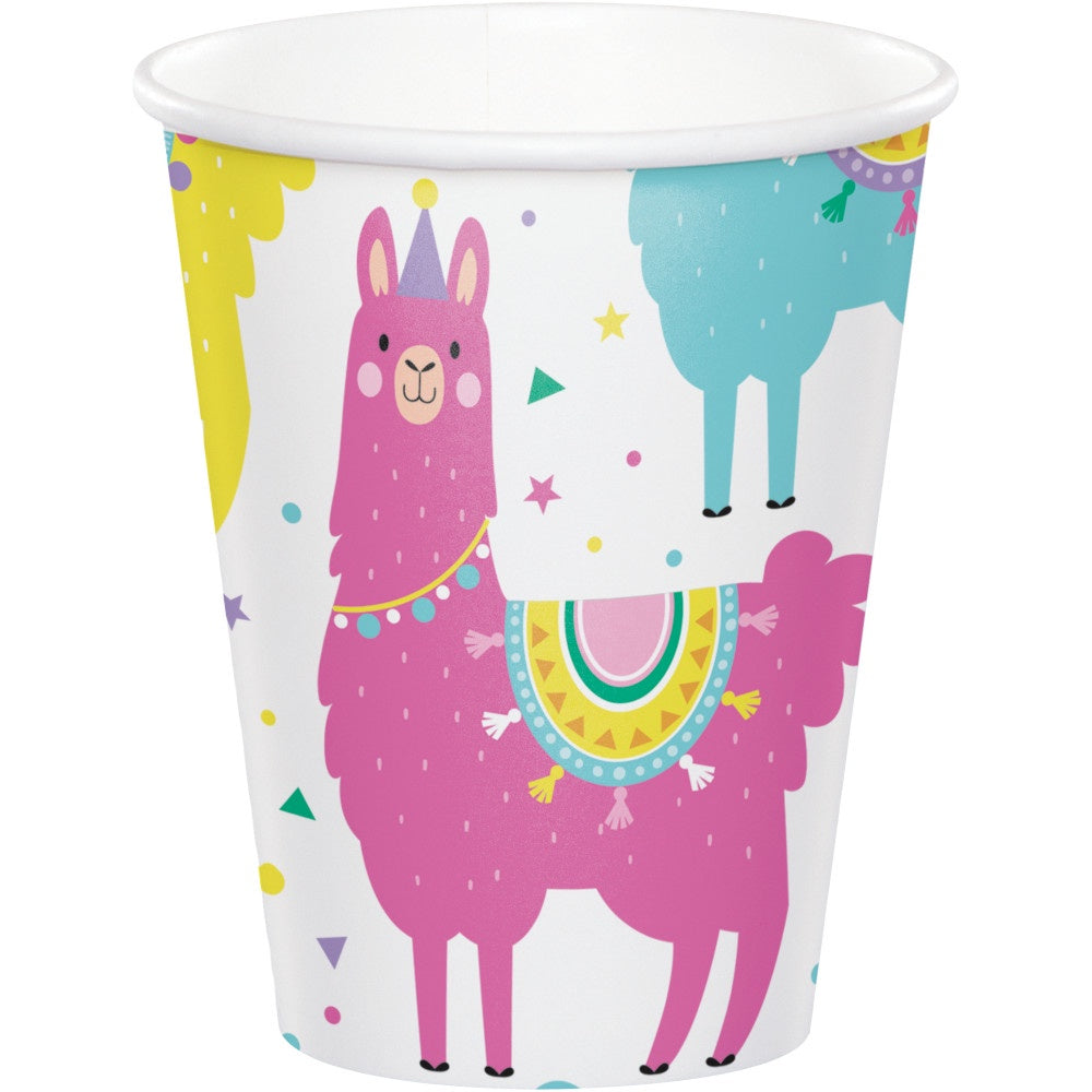 Hot/Cold Cups 9Oz. 9Cup 12/8Ct Llama Party 339582 7