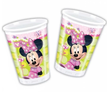 200Ml Plastic Cups Minnie Bow-Tique
