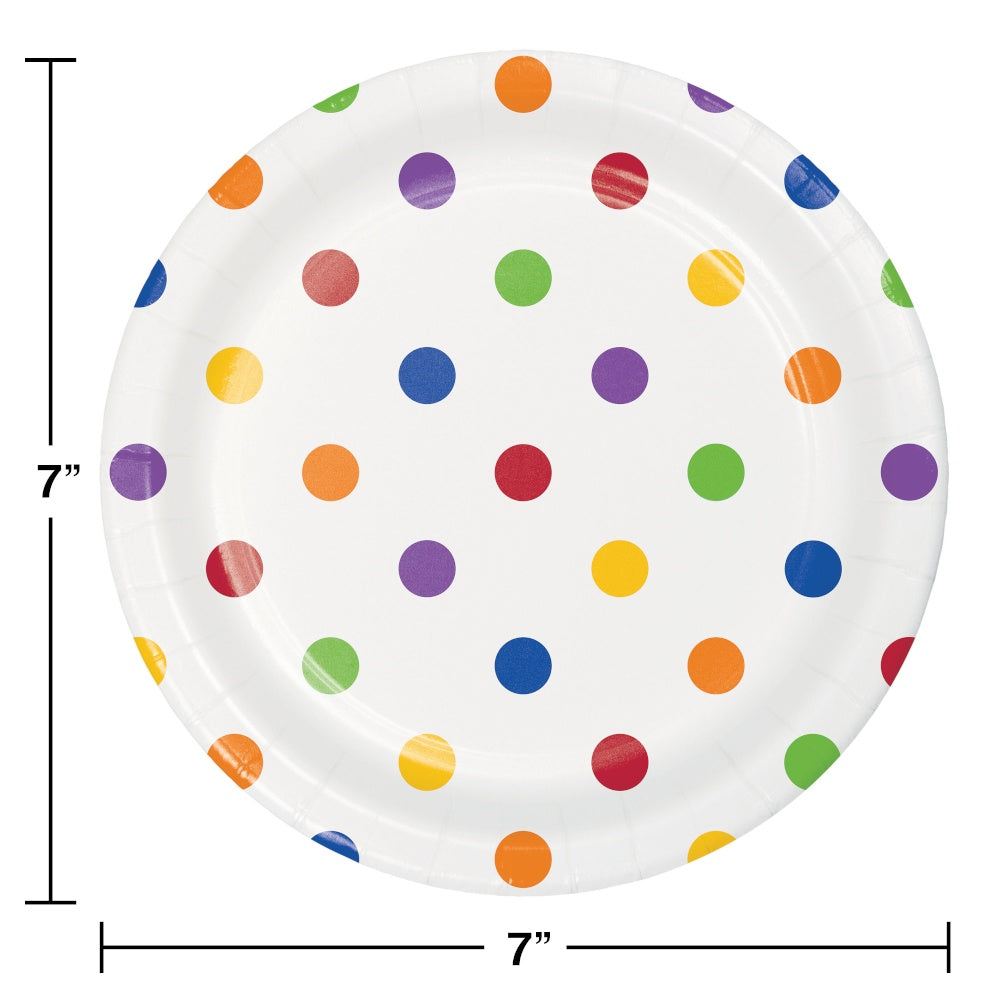 PLT7 12/8CT DOTS & STRIPES MULTICOLOR