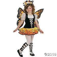 Girls Monarch Butterfly Costume - Medium