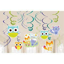 Woodland Welcome Swirl Decorations 12Pc