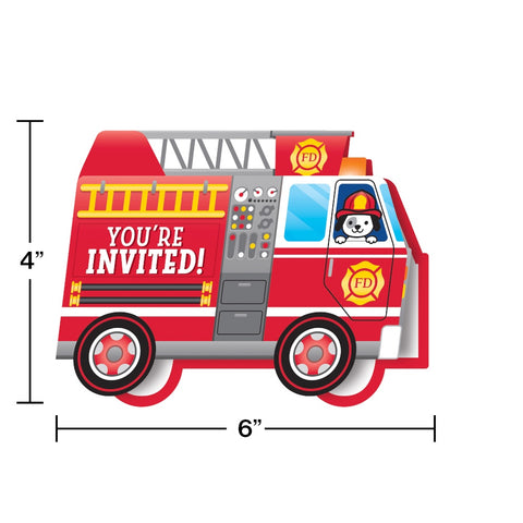 INV DC FOLD 6/8CT FLAMING FIRE TRUCK [332200]