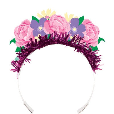 TIARA W/FR 12/4CT FLORAL TEA PARTY