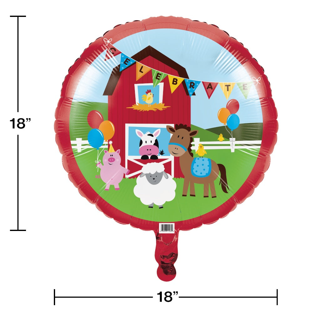 "BLN MET 10/1CT 18"" FARMHOUSE FUN"