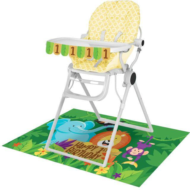 High Chair Kit High Chair Kit 6/1Ct Jungle Safari