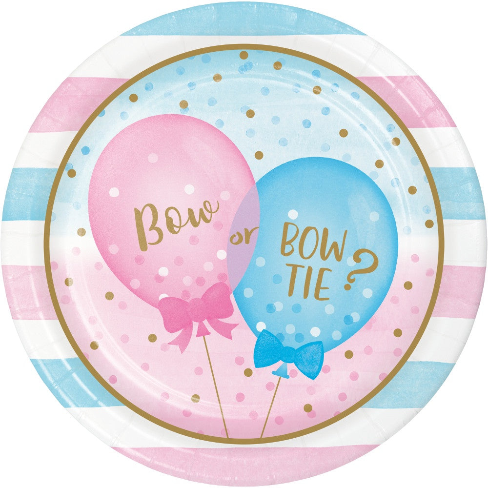 Dinner Plate Plt9 Ss 12/8Ct Gender Reveal Balloons