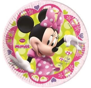 20Cm Paper Plates Minnie Bow-Tique