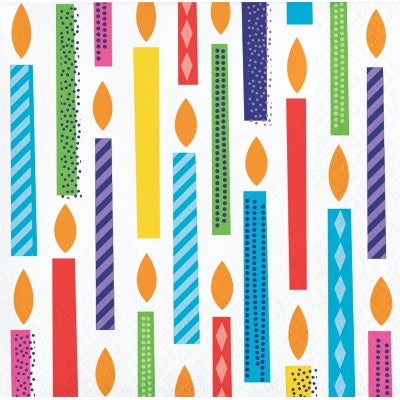 Beverage Napkin Bn 12/16Ct 2P Bright Birthday