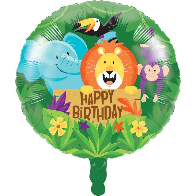 "Metallic Balloon 18"" Bln Met 10/1Ct 18"" Jungle Safari"