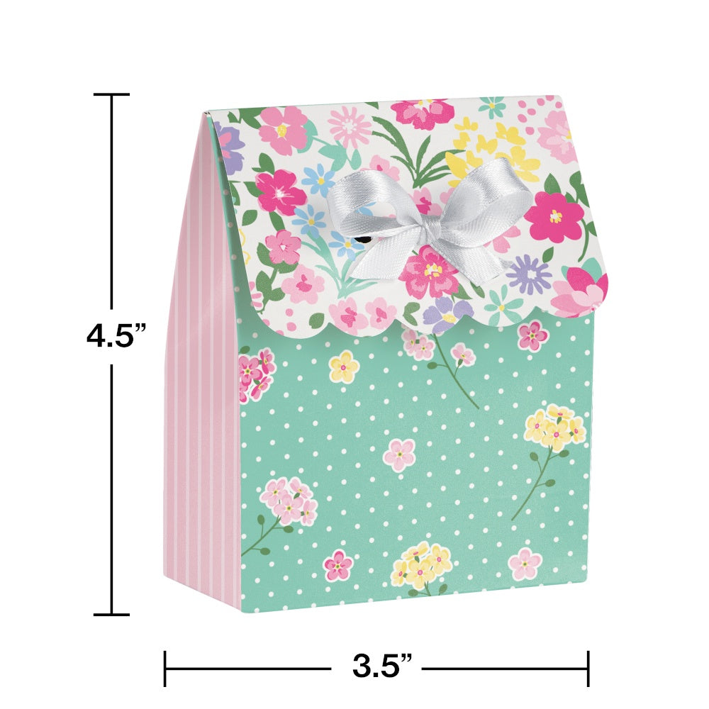 BAG FVR W/RIB 6/12CT FLORAL TEA PARTY