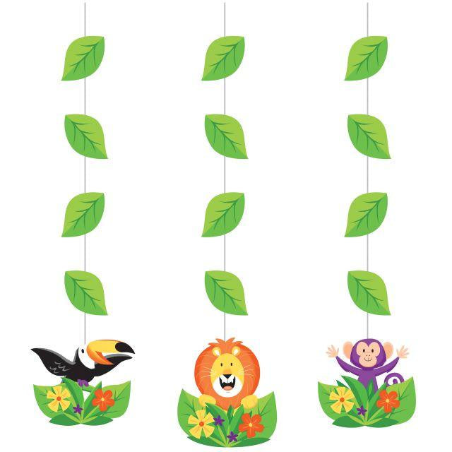 Hanging Cutouts Co Hng 12/3Ct Jungle Safari