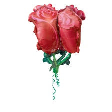 P60 RED ROSES ULTRA SHAPE FOIL BALLOON