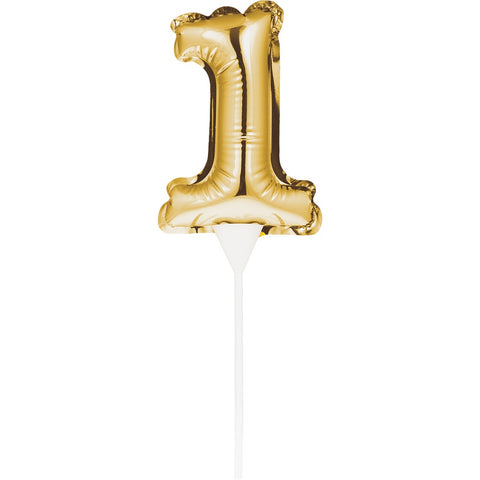BLN CAKE TOPPER 12/1CT 1 GOLD