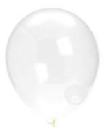 Balloons: Solid Colour Latex Balloons: Clear
