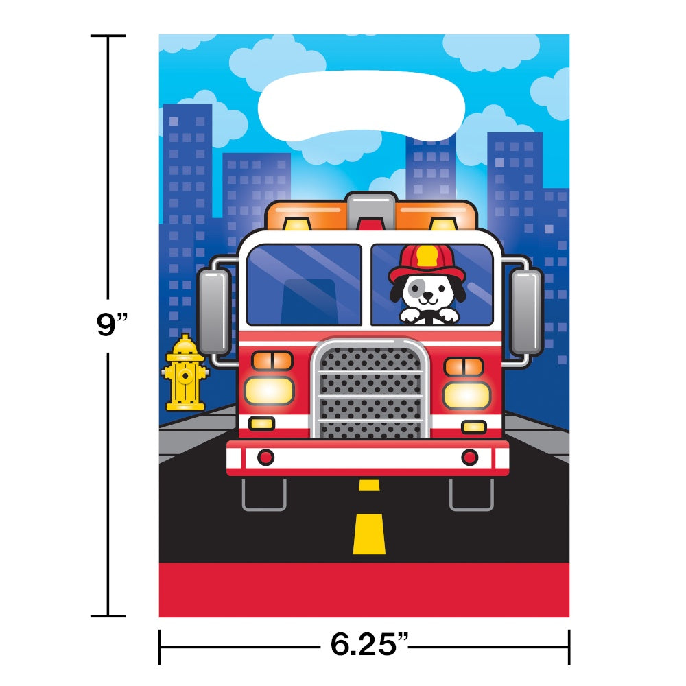 BAG LOOT 12/8CT FLAMING FIRE TRUCK [332202]